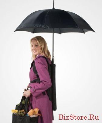 Заплечный зонт: преимущества и недостатки