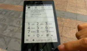 В Китае действуют над телефоном с экраном e-Ink