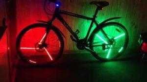 Сигнальная подсветка для колес велосипеда